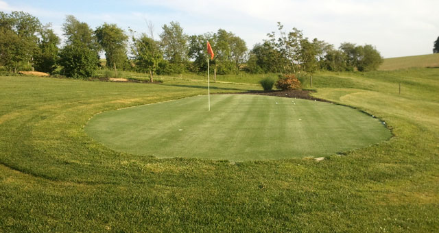Backyard putting greens for the golf fanatic in your home!